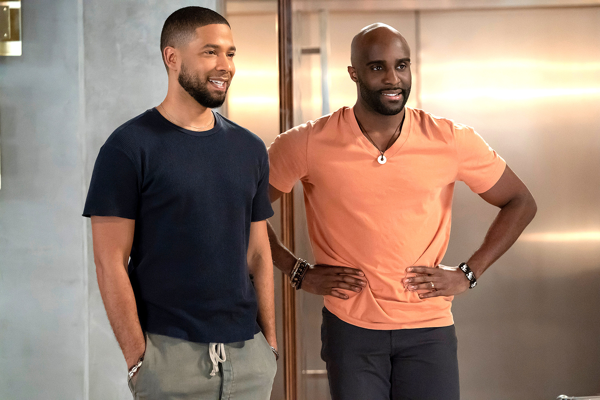 Jussie Smollett and Toby Onwumere