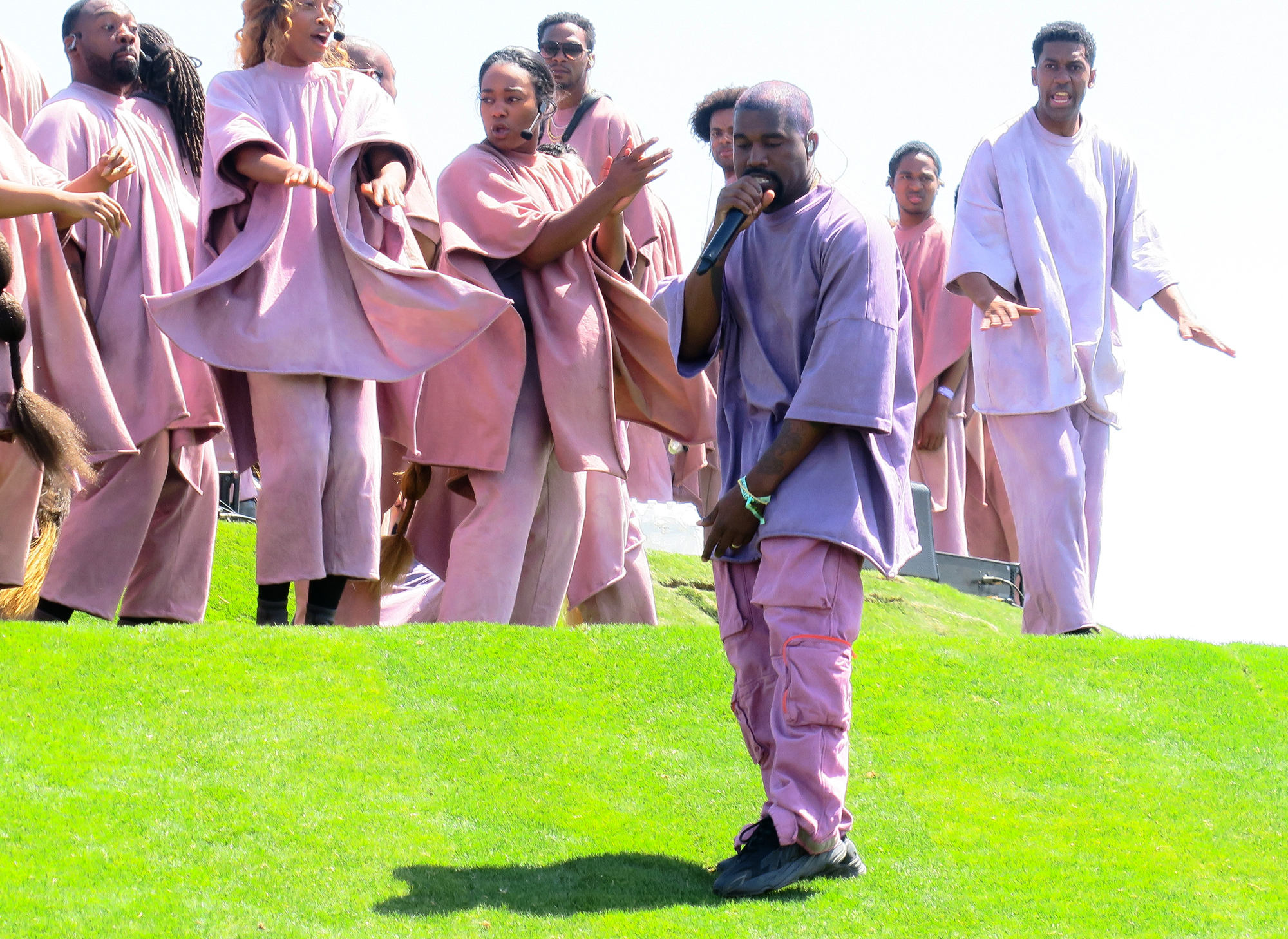 """Kanye West performs at """"Sunday Service at the Mountain"""""""