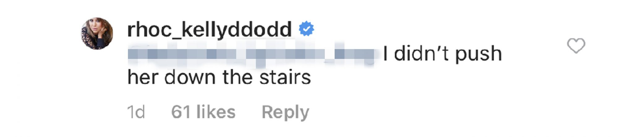 Kelly Dodd Instagram comment
