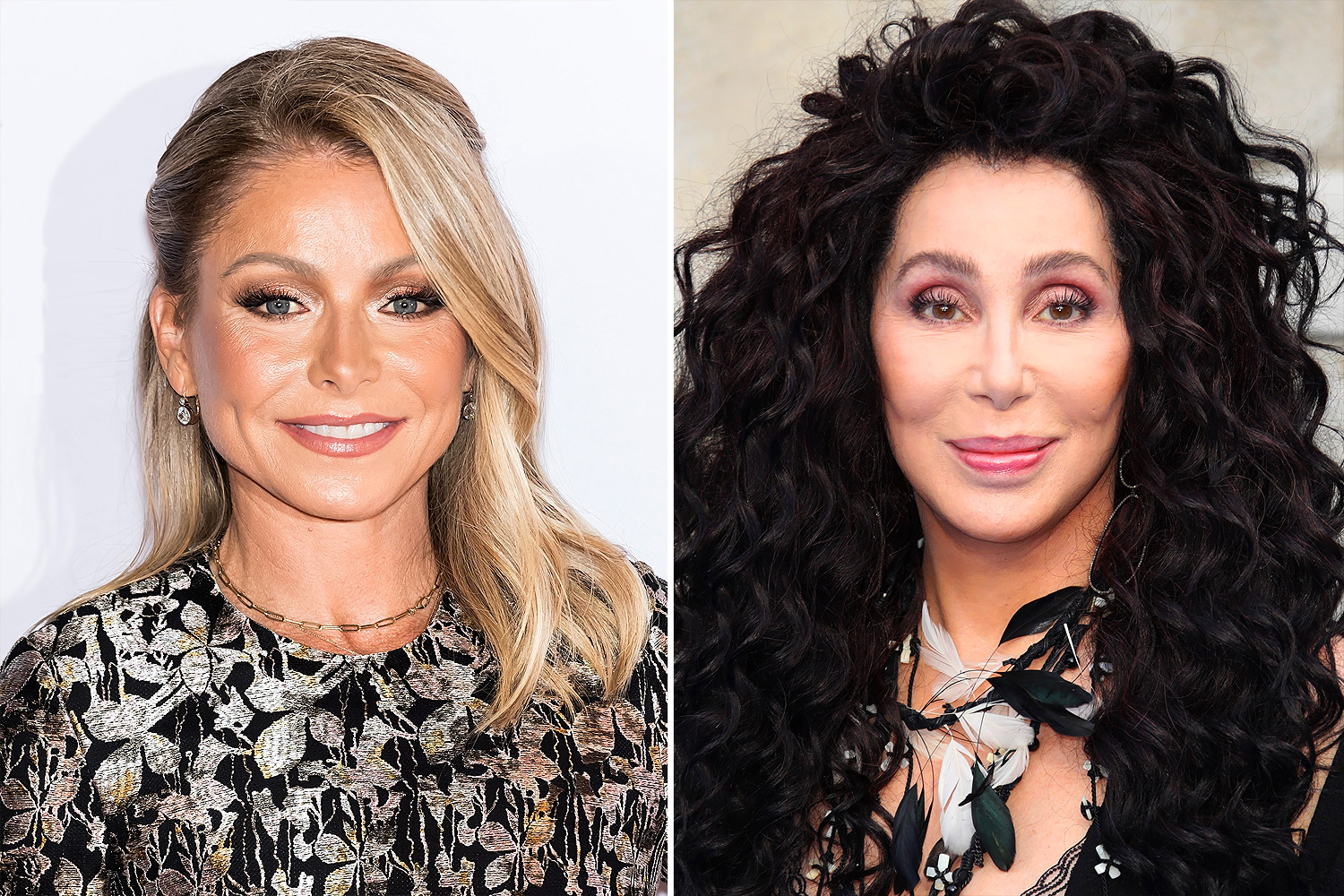Kelly Ripa and Cher