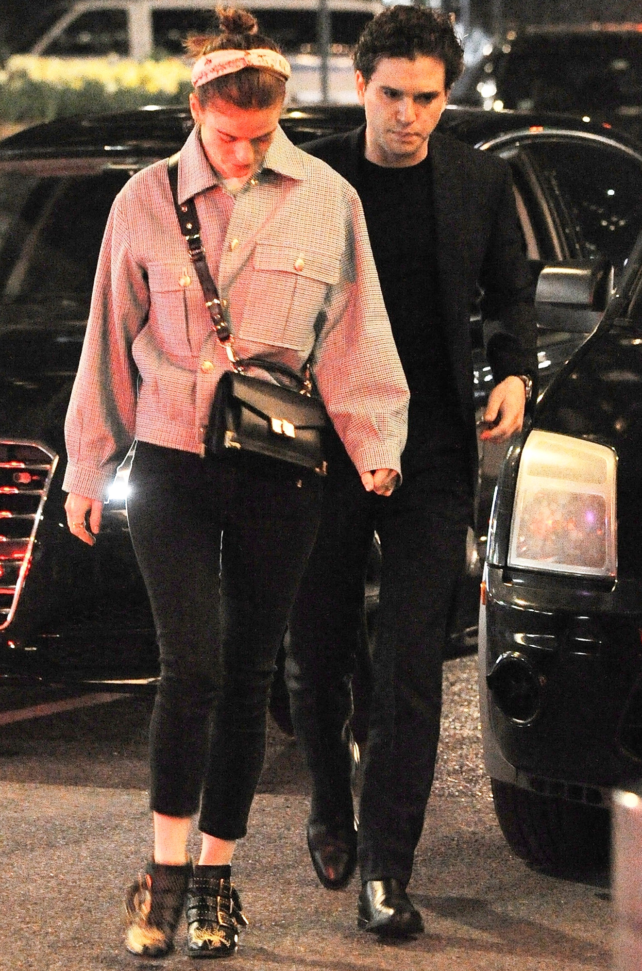 *EXCLUSIVE* Clean shaven Kit Harington and wifey Rose Leslie hit up New York City for date night