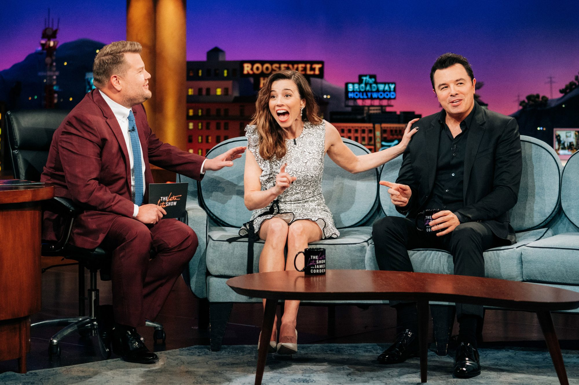 The Late Late Show with James Corden Linda Cardellini and Seth MacFarlane