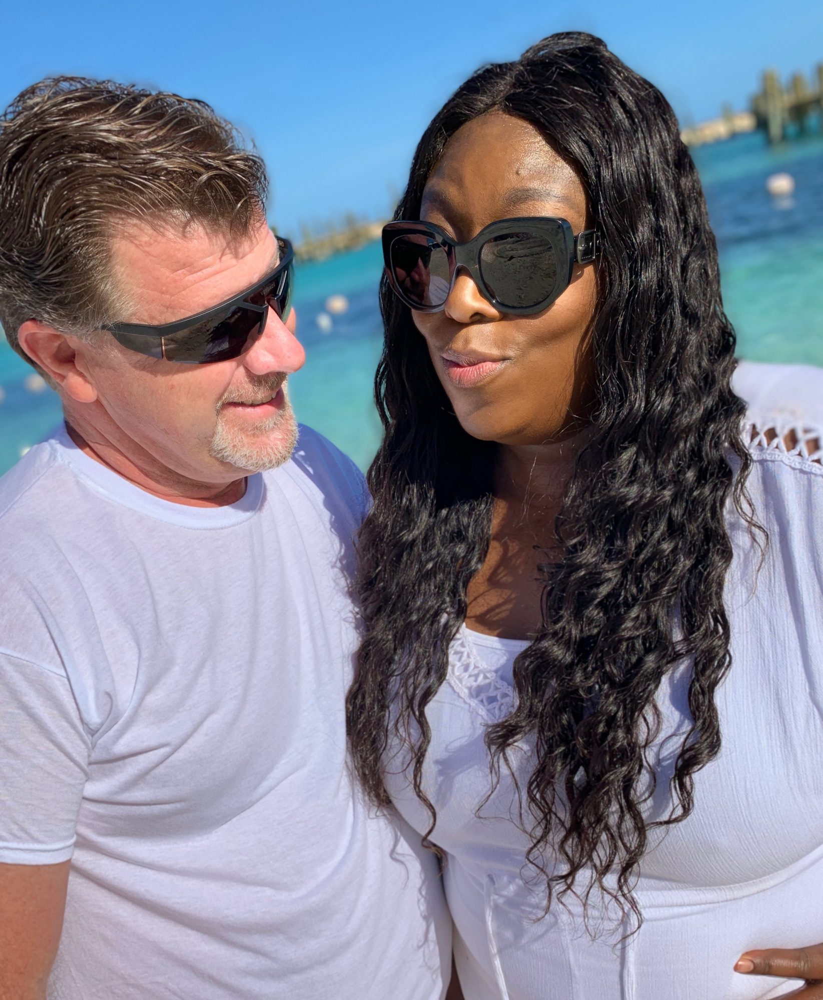 Loni Love personal images with JamesBaha Mar in The Bahamas bringing in 2019