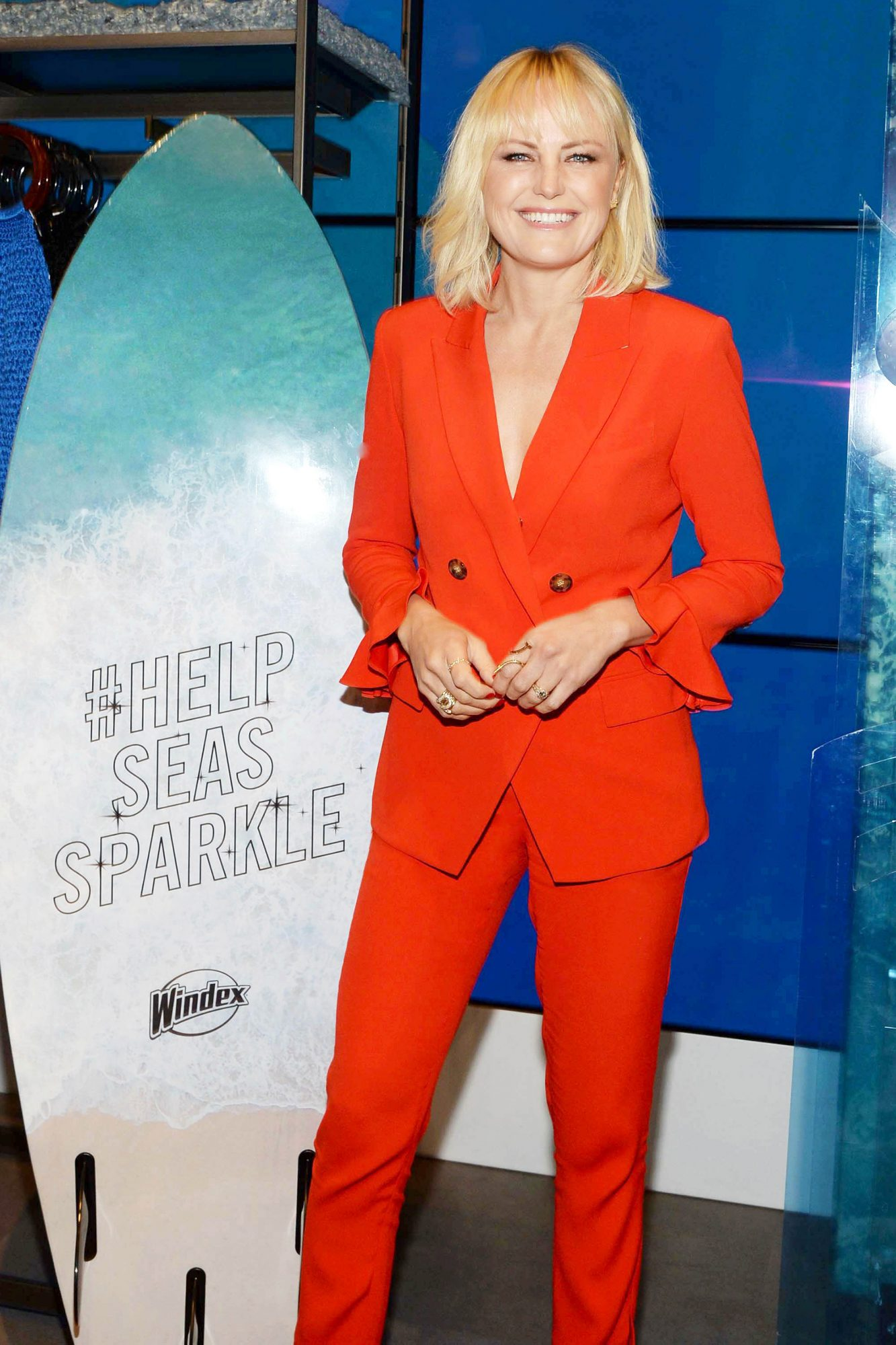 Malin Akerman Unveils New Windex with Vinegar Bottles and Window display at Bloomingdale`s