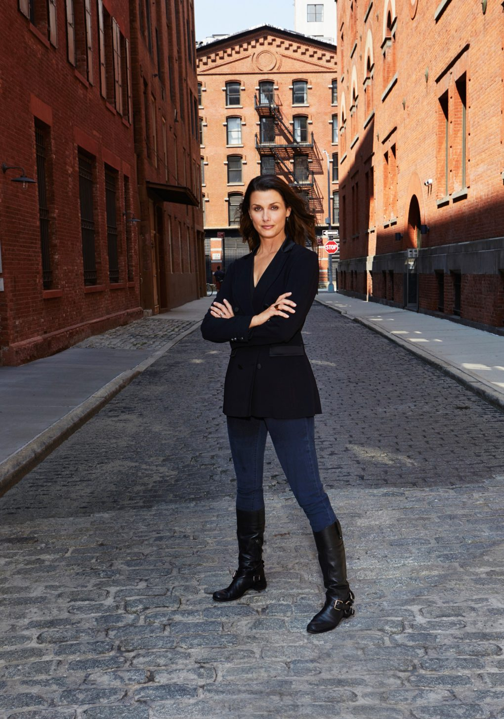 "Bridget Moynahan and her boots photographed for her book ""Our Shoes Our Selves"""