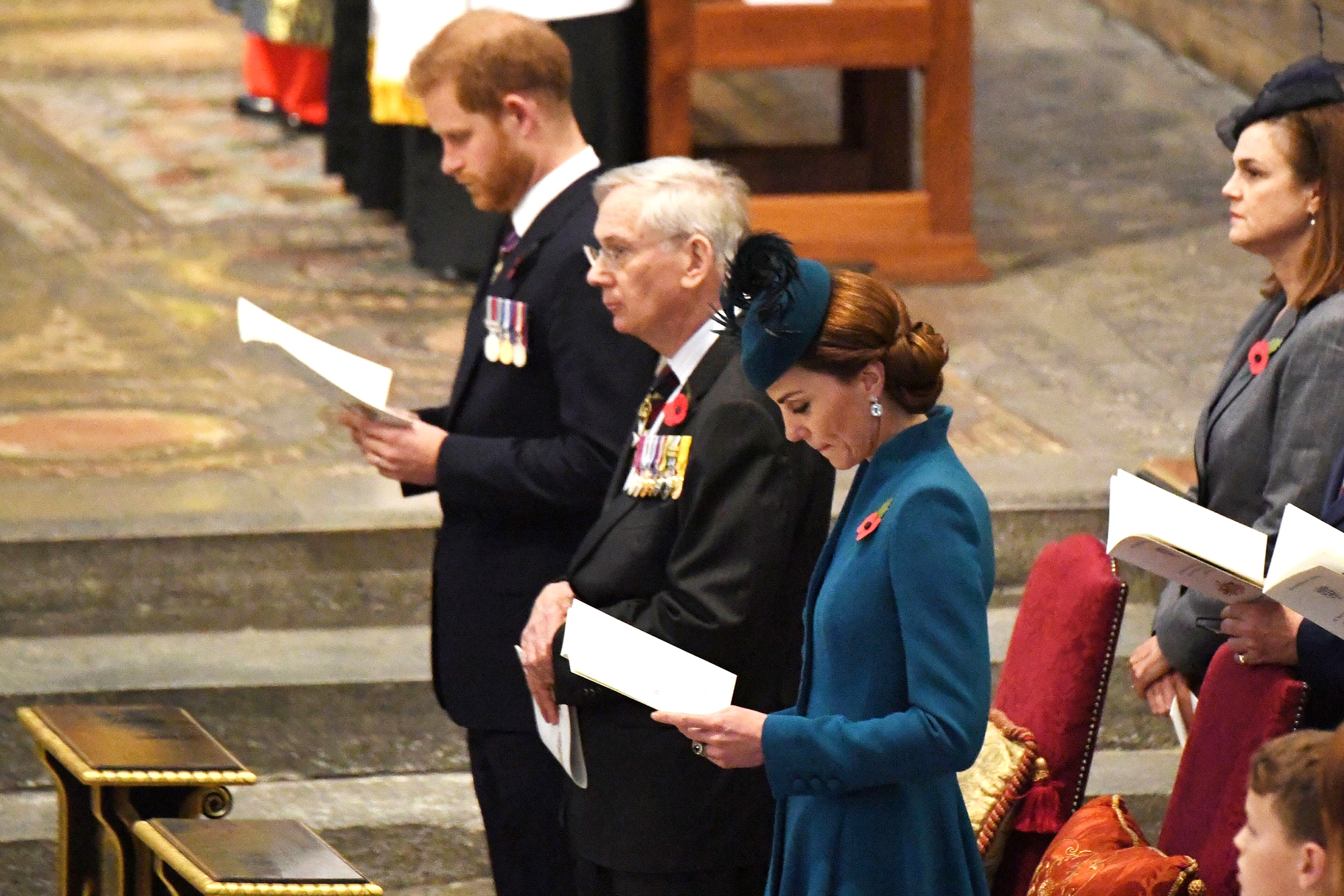 Prince Harry, Catherine Duchess of Cambridge Anzac Day Service