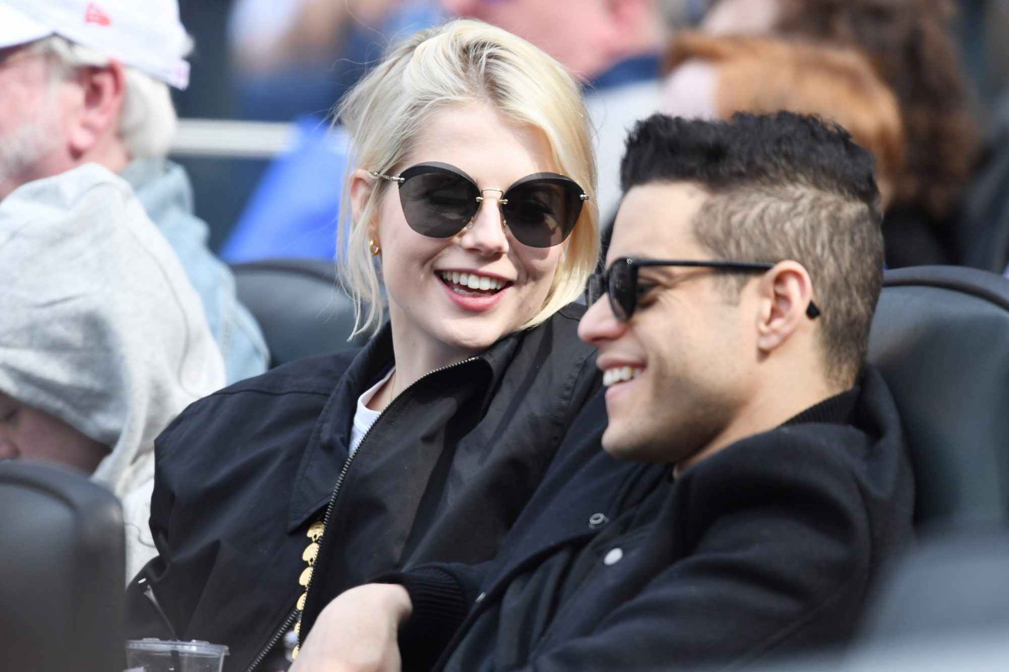 Rami Malek and Lucy BoyntonCredit: New York Mets