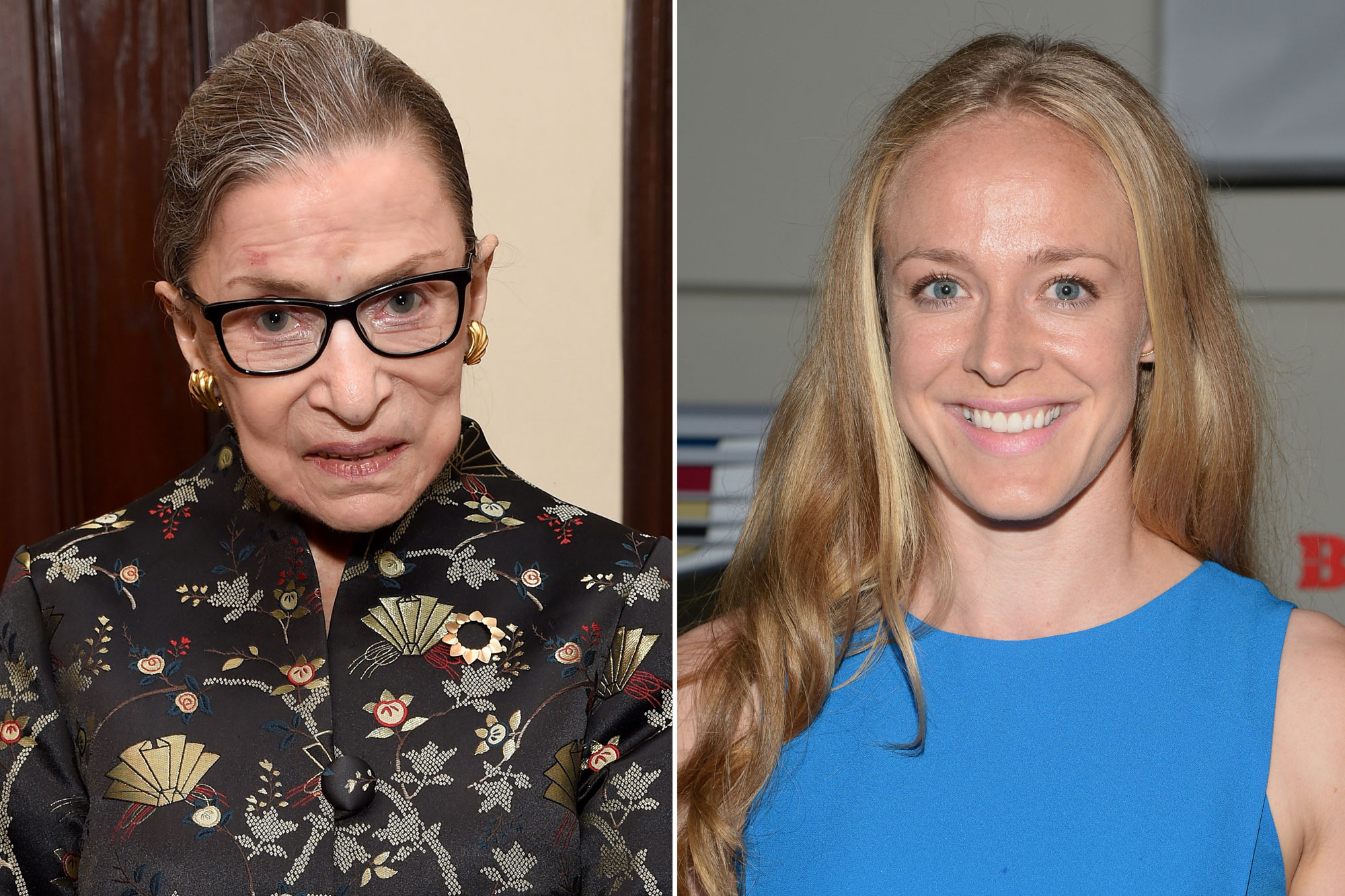 Supreme Court Justice Ruth Bader Ginsburg and Becky Sauerbrunn