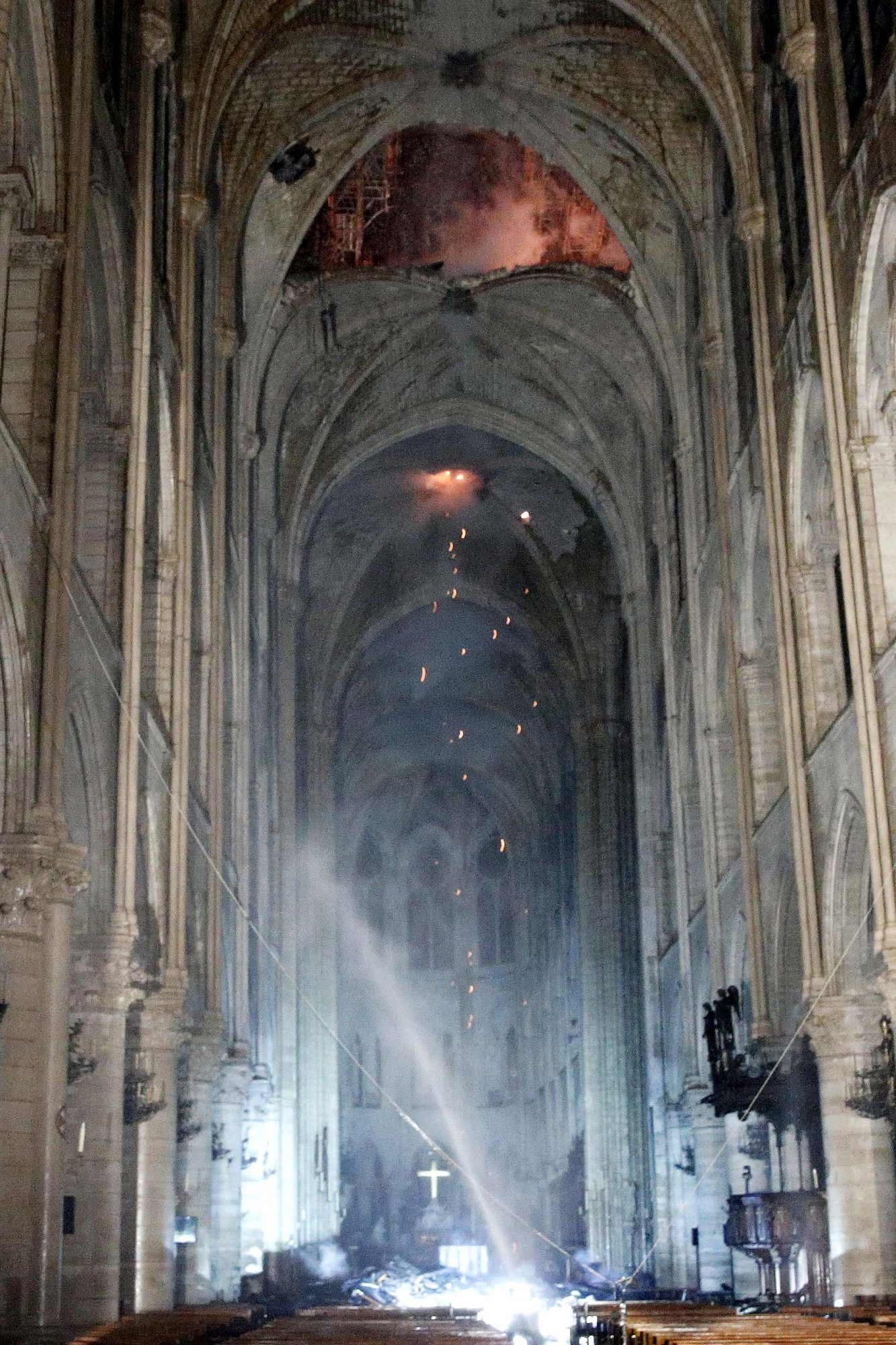 Cathedral of Notre-Dame of Paris on fire, France - 15 Apr 2019