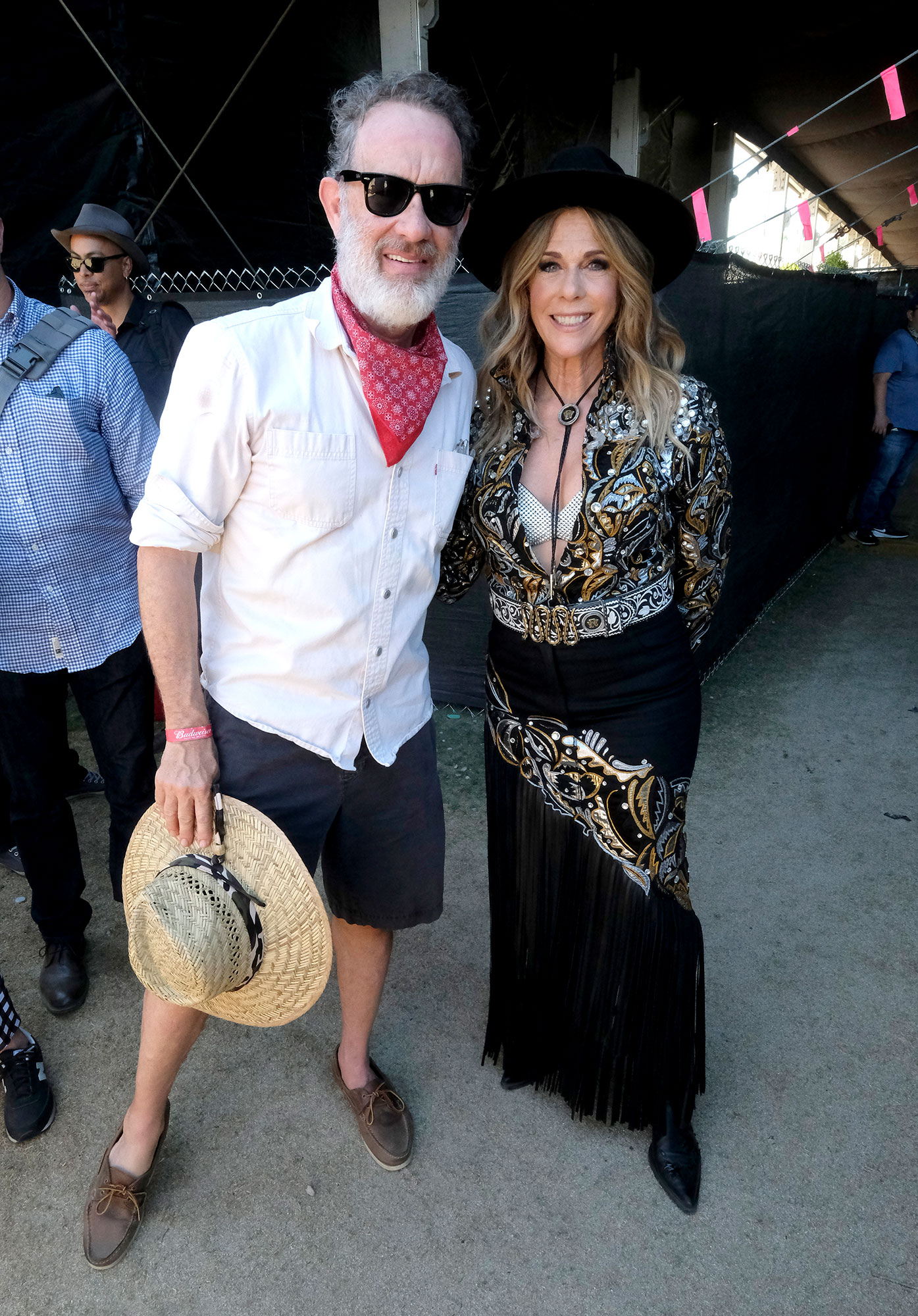 APRIL 27: Tom Hanks and Rita Wilson attend the 2019 Stagecoach Festival at Empire Polo Field on April 27, 2019