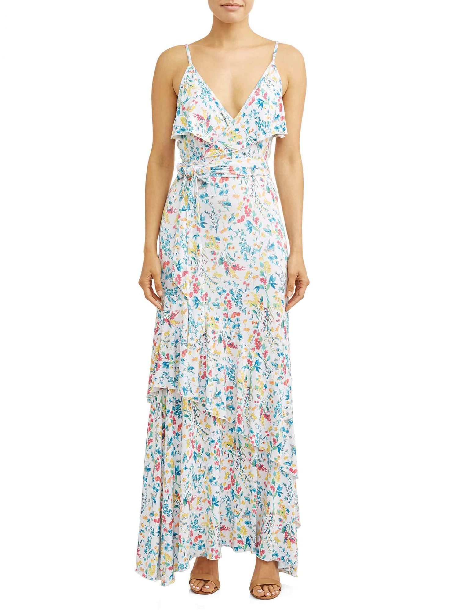 Sofia Jeans by Sofia Vergara Faux Wrap Front Maxi Dress