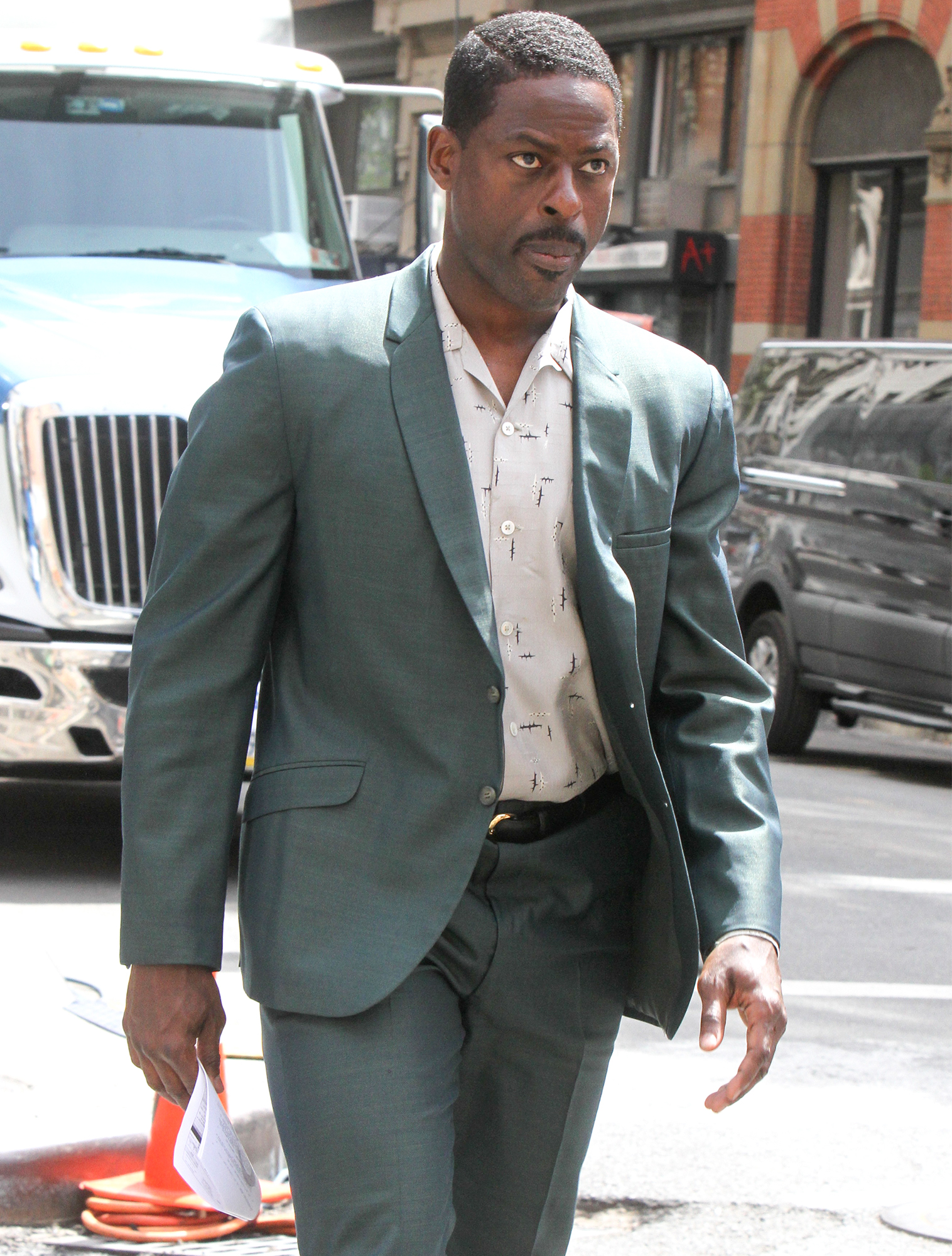 """Sterling K. Brown At """"The Marvelous Mrs Maisel"""" Set In NYC"""