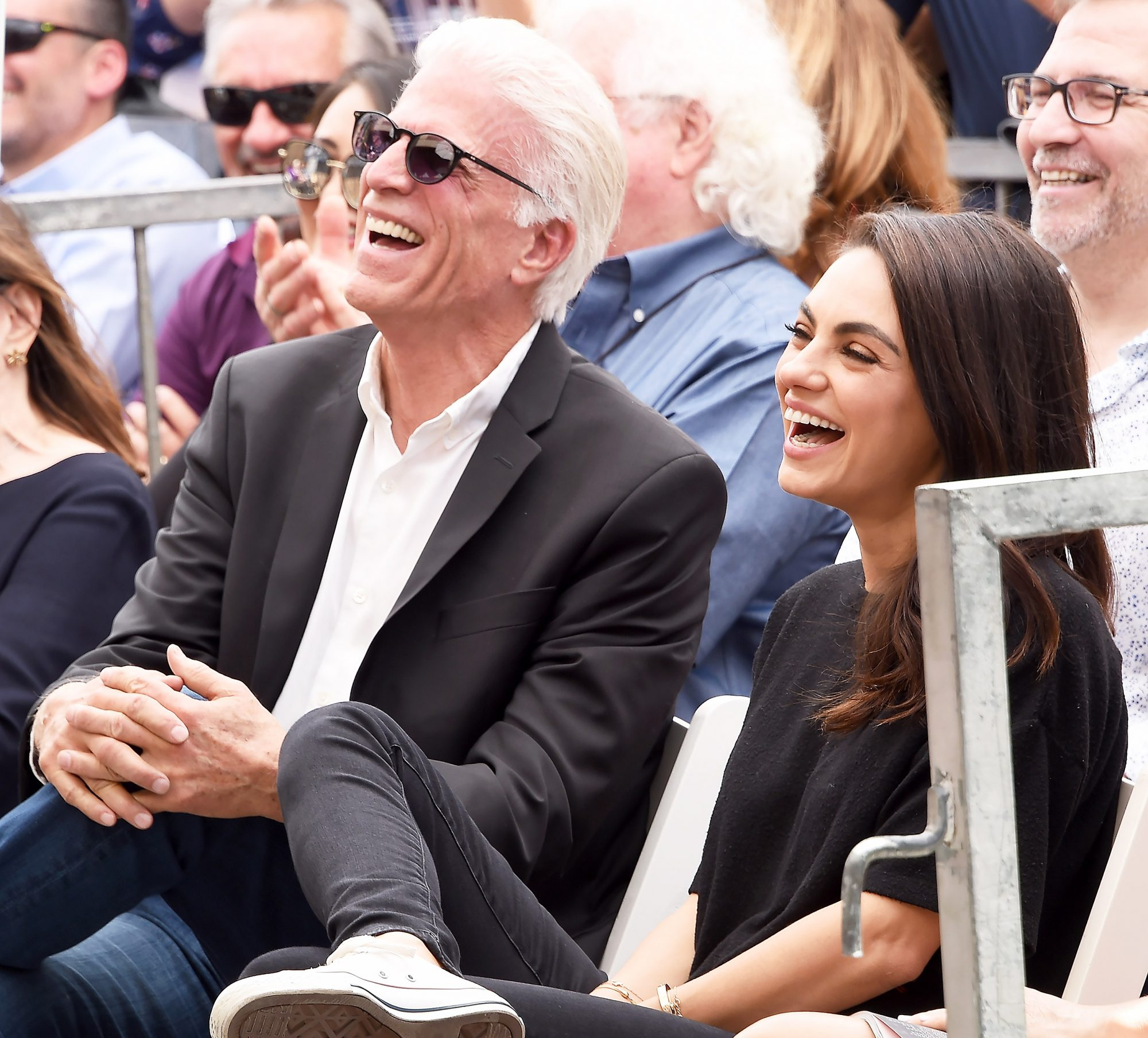 Ted Danson and Mila Kunis