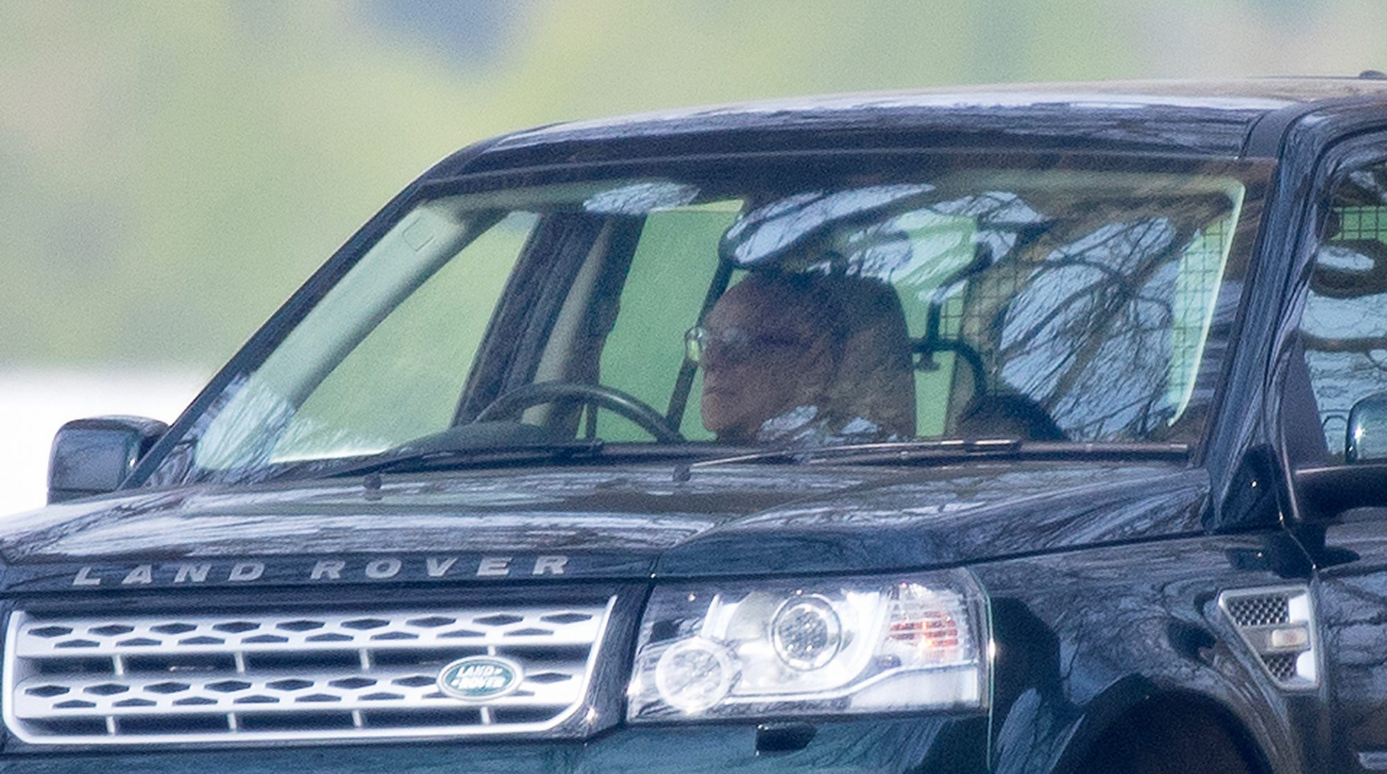 EXCLUSIVE:  While The Queen is Working Prince Philip Relaxes in His Land Rover