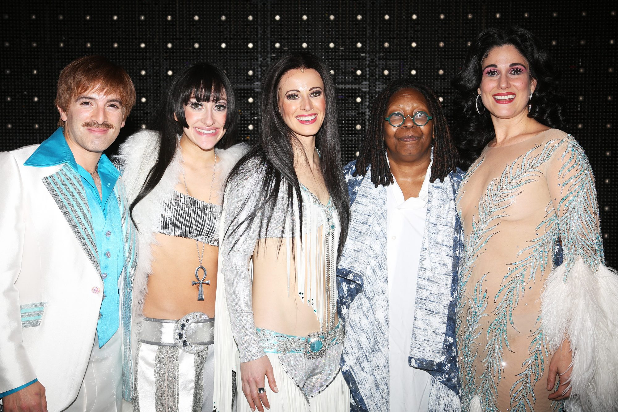 Whoopi Goldberg Visits The Cher Show on Broadway