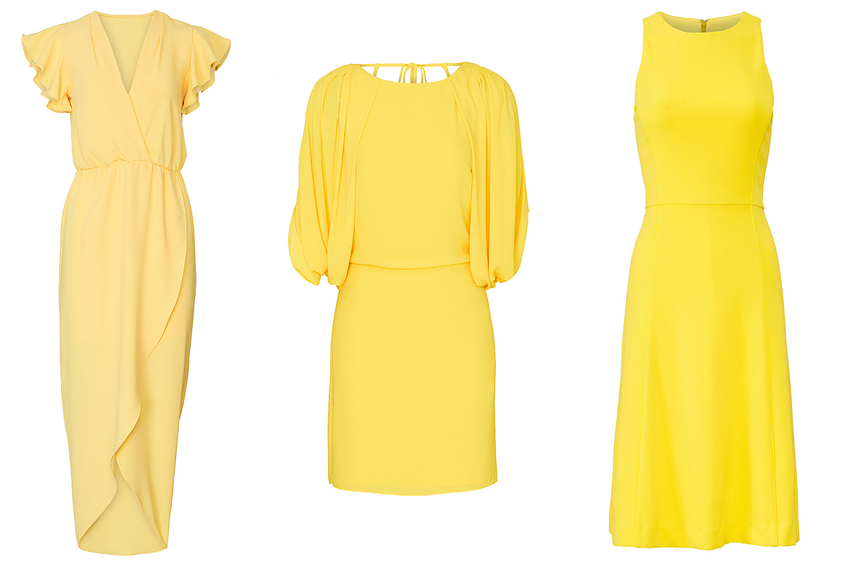 Yellow dresses on Rent the Runway