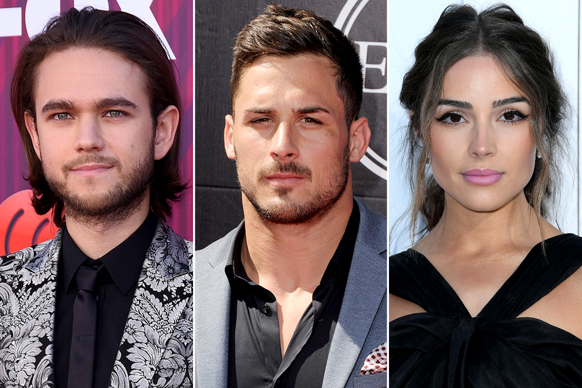 Zedd, Danny Amendola, and Olivia Culpo