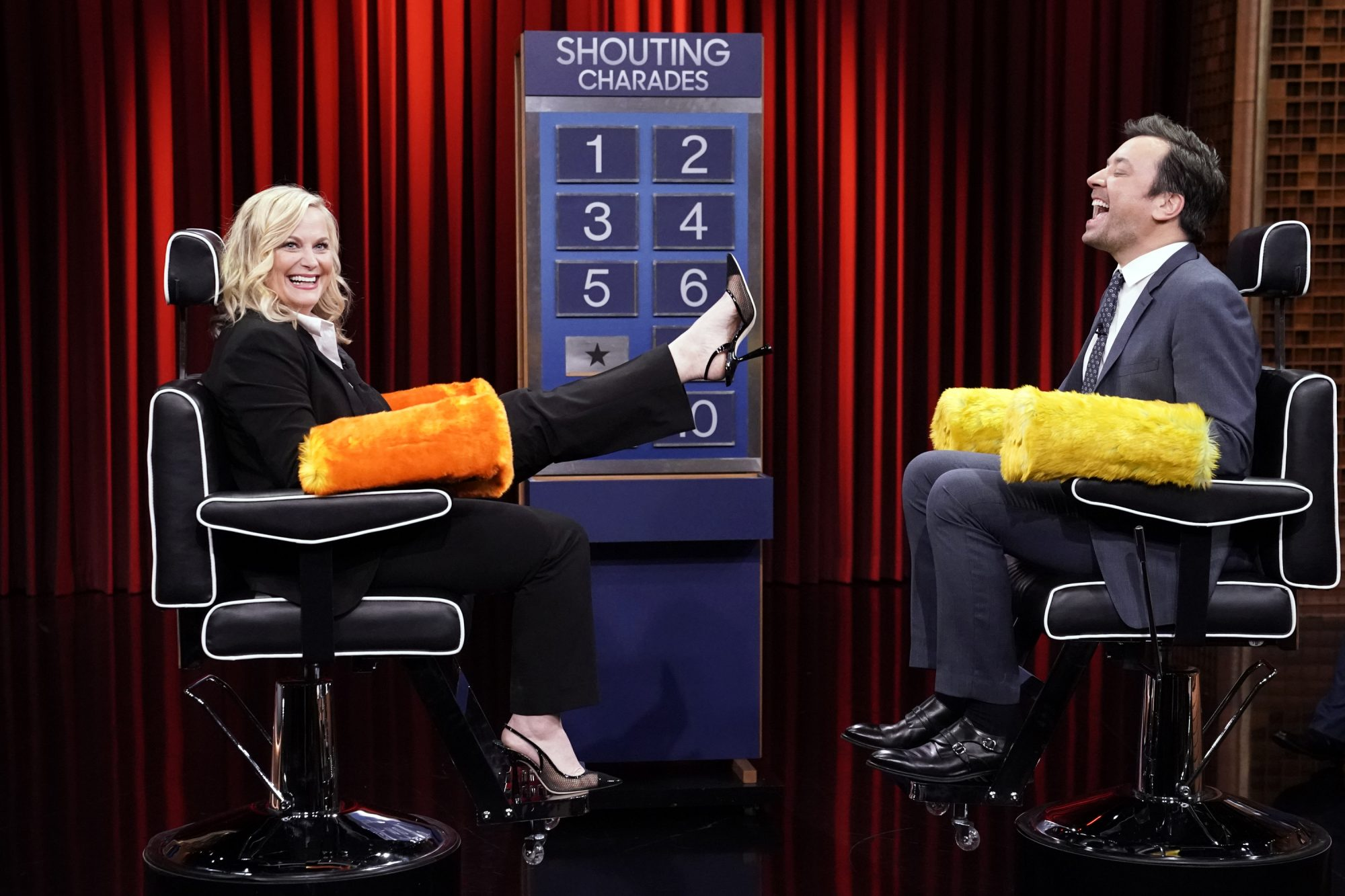 Amy Poehler and jimmy fallon