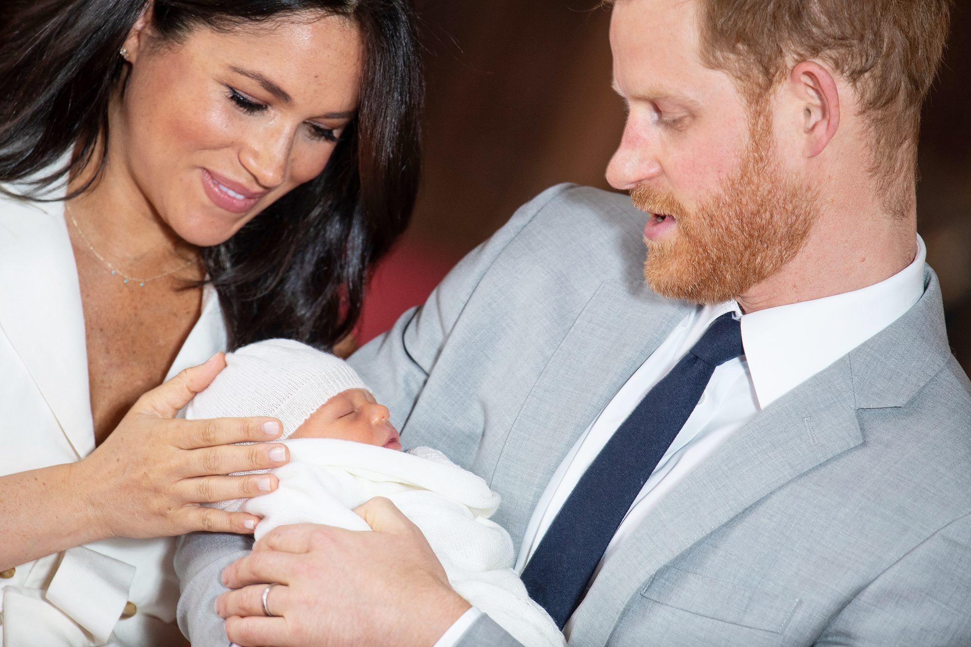 The Duke and Duchess of Sussex with their baby son