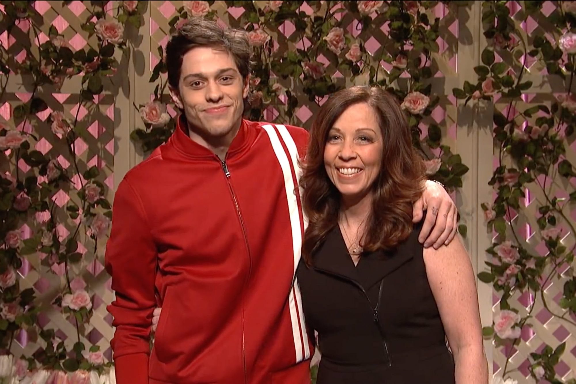 Pete Davidson and his mom SNL