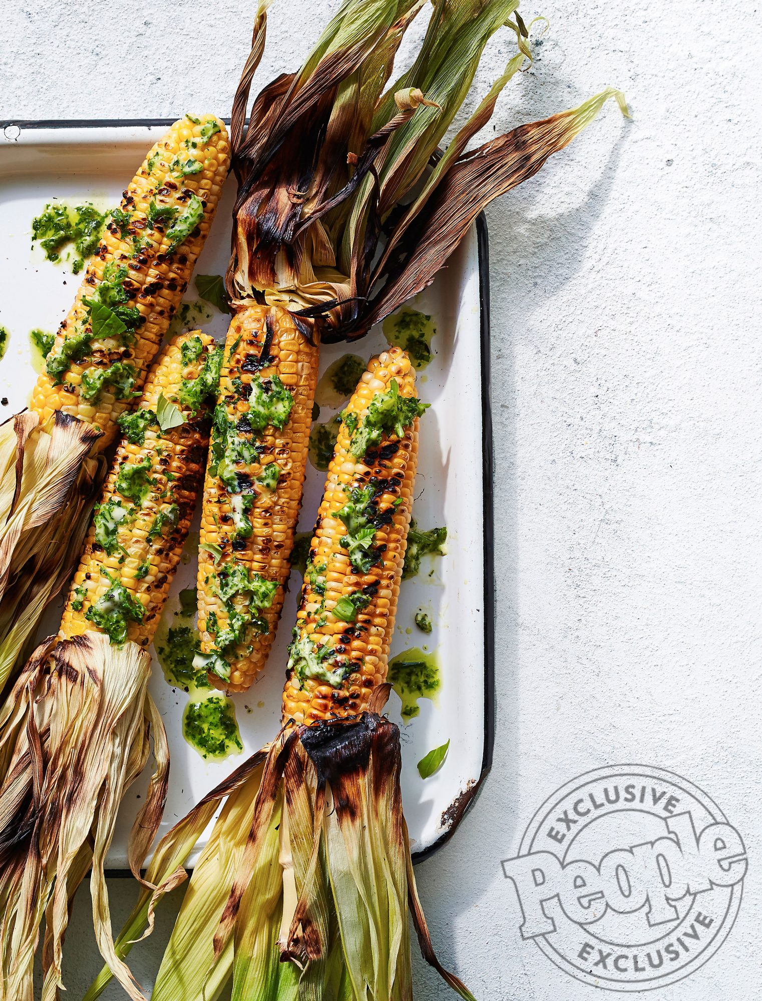 AMY & MIKE MILLS' GRILLED CORN WITH GARLIC HERB BUTTER
