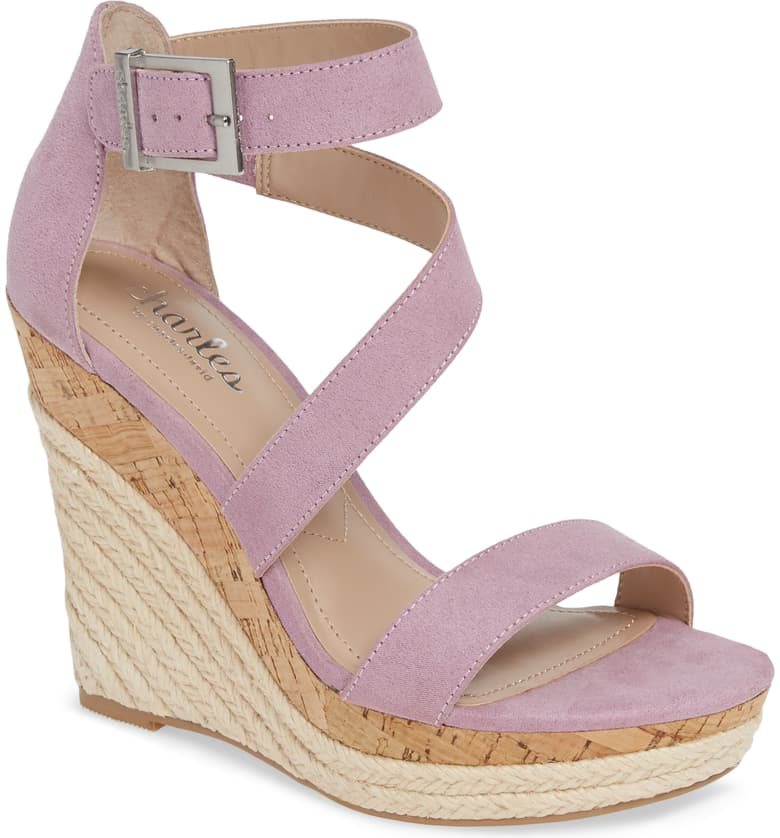 Charles by Charles David Adrielle Asymmetrical Platform Wedge Sandal at Nordstrom