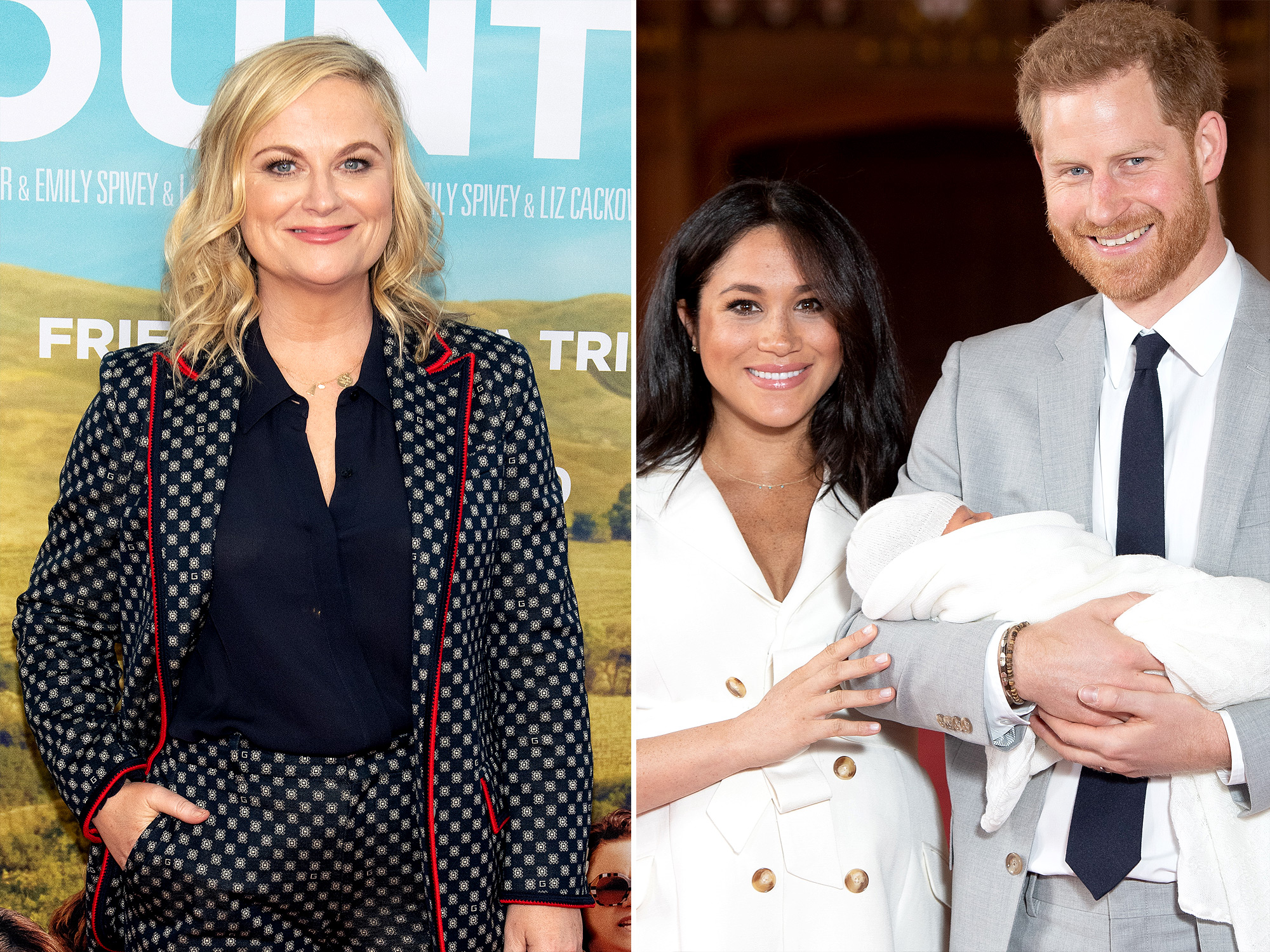 Amy Poehler and Prince Harry and Meghan Markle