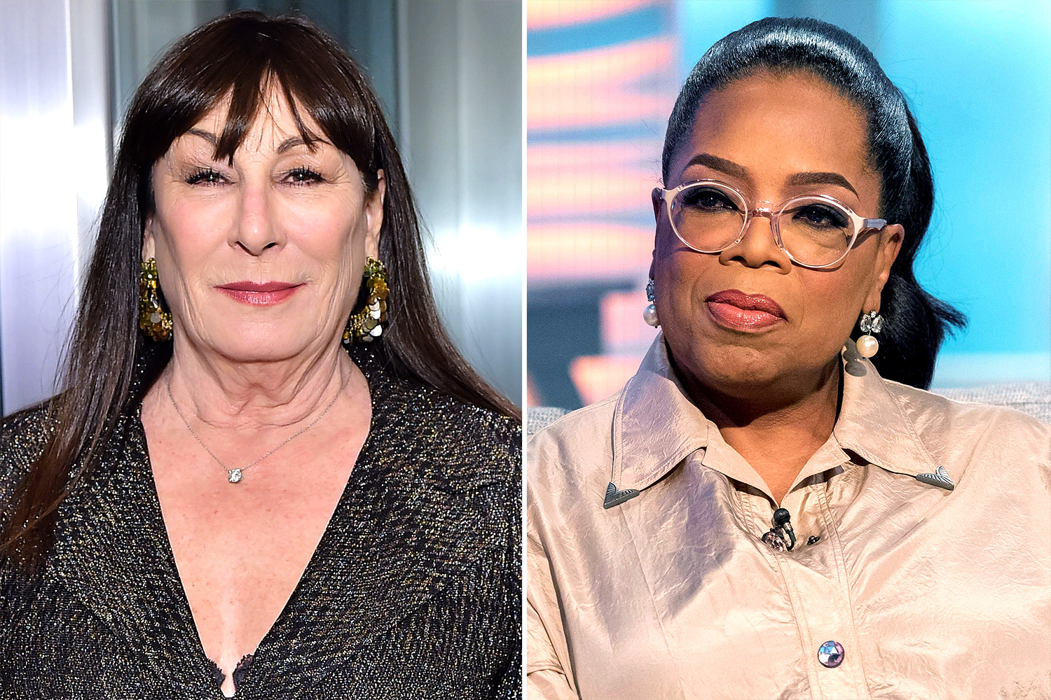 Anjelica Huston and Oprah