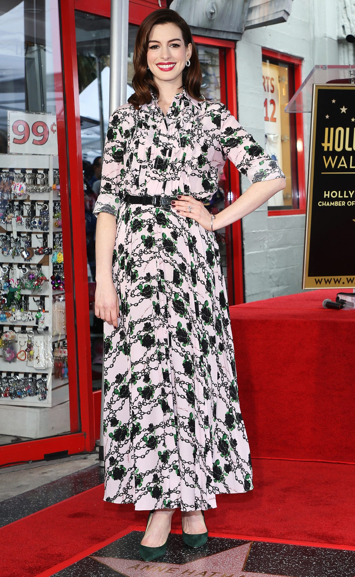 Anne Hathaway Honored With Star On The Hollywood Walk Of Fame