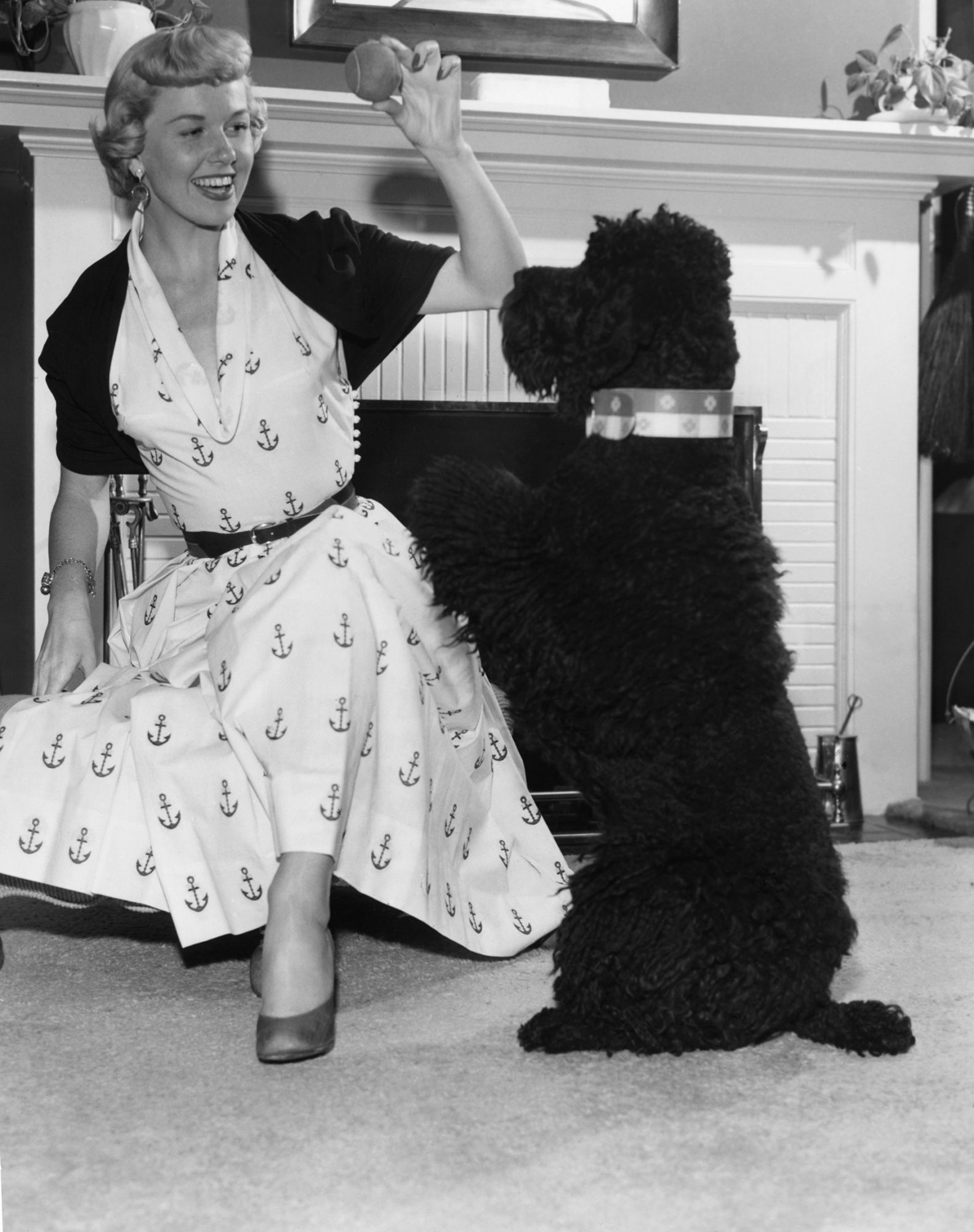 Doris Day And Poodle