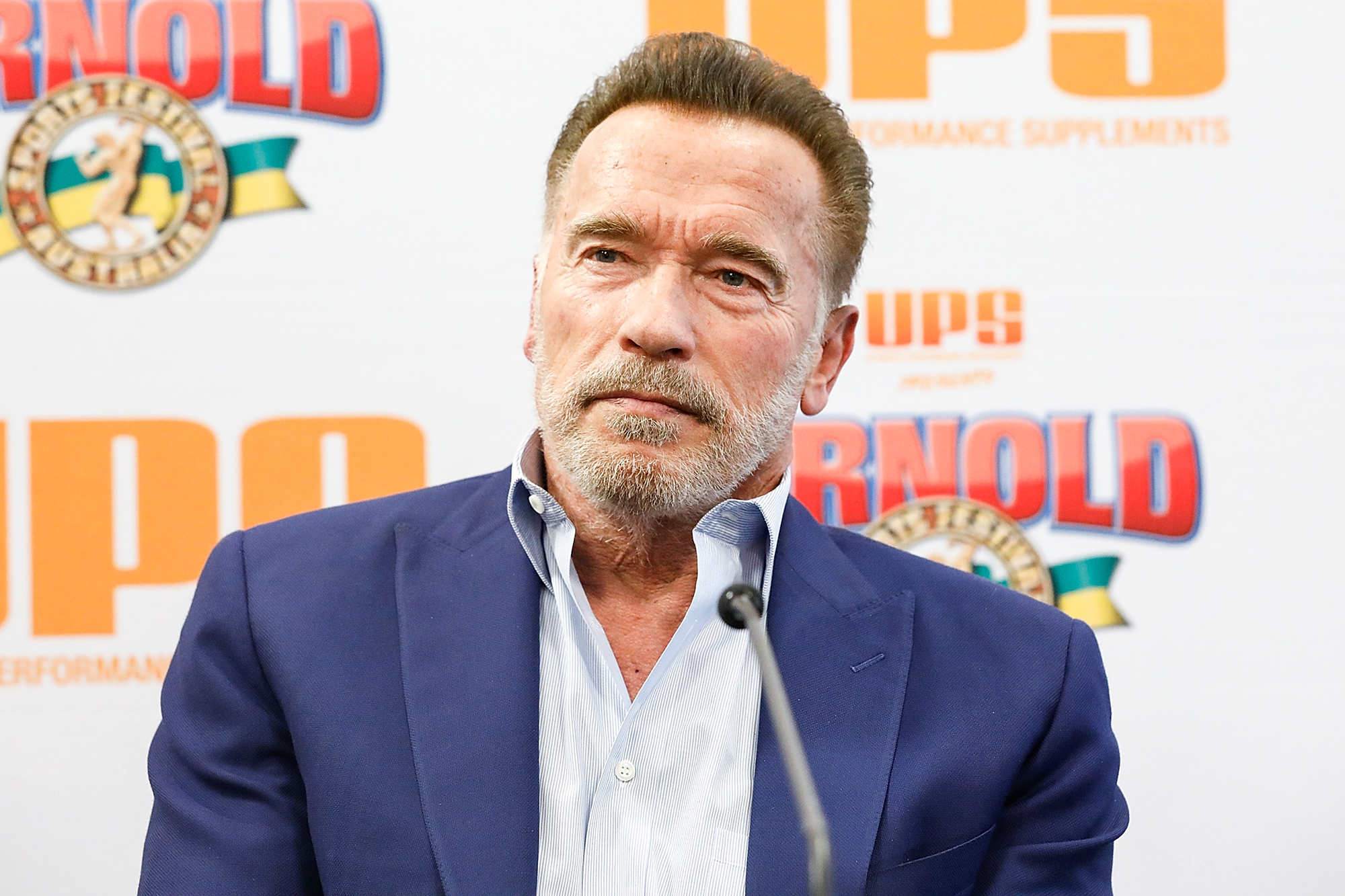 MELBOURNE, AUSTRALIA - MARCH 15: Arnold Schwarzenegger speaks during a press conference on March 15, 2019 in Melbourne, Australia. (Photo by Sam Tabone/WireImage)