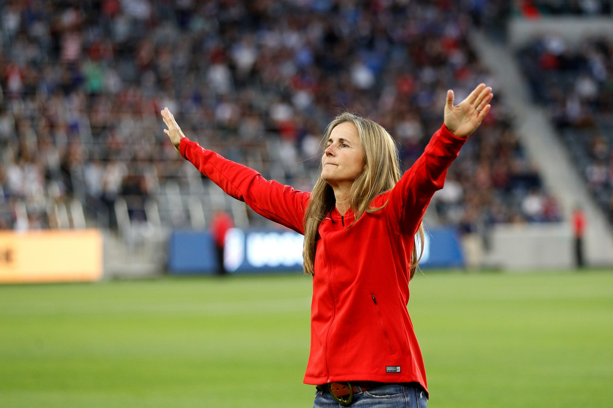 Brandi Chastain at Banc of California Stadium