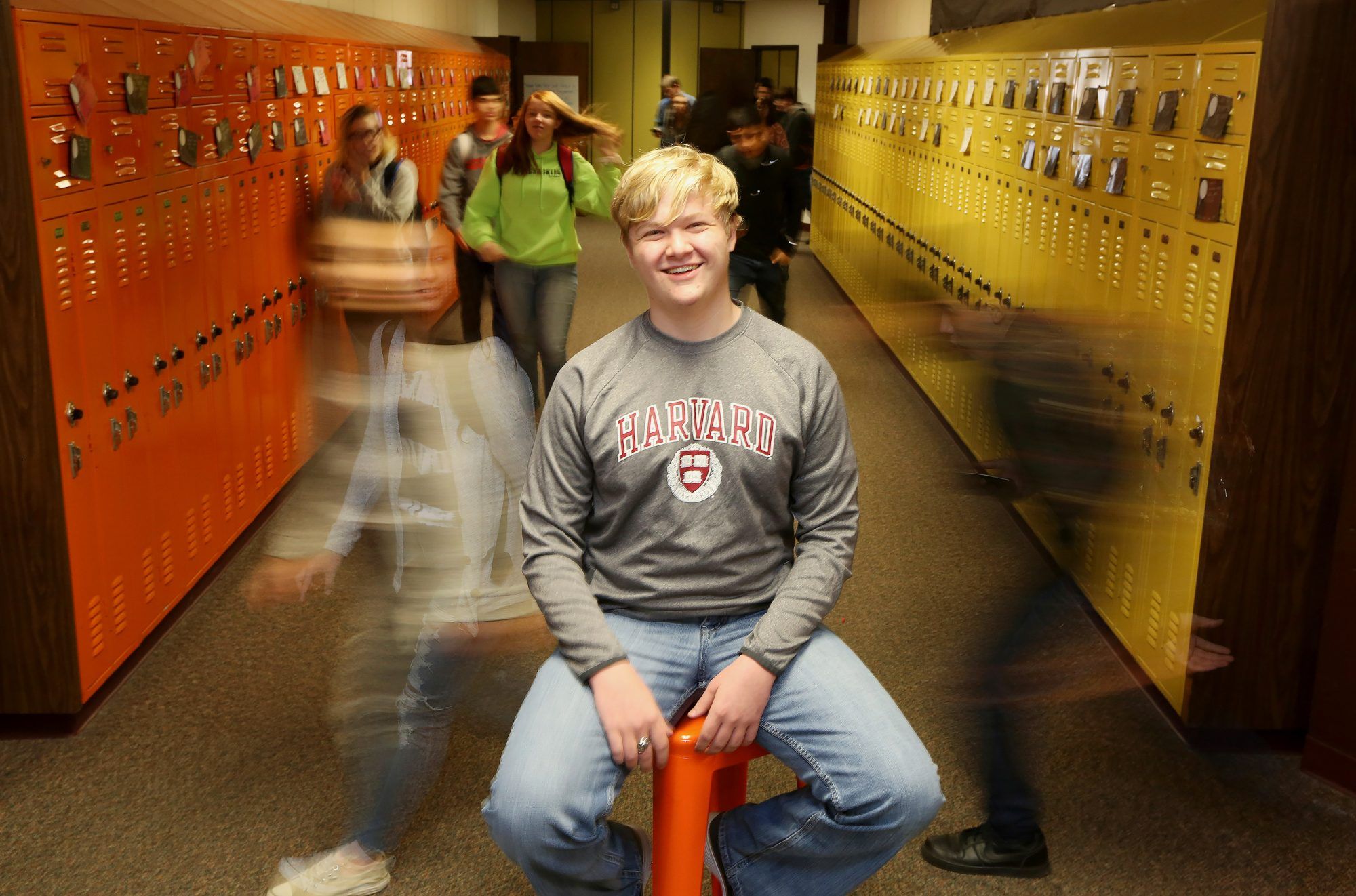 Ulysses High School senior Braxton Moral sits for a portrait at the school in Ulysses, Kan., on Wednesday, Dec. 12, 2018