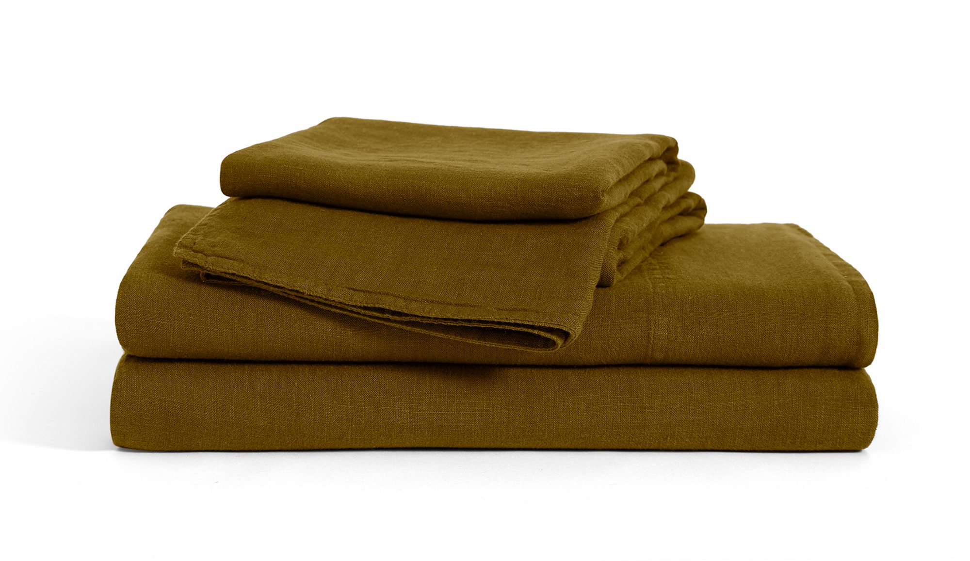 Linen Core Sheet Set in Moss from Brooklinen