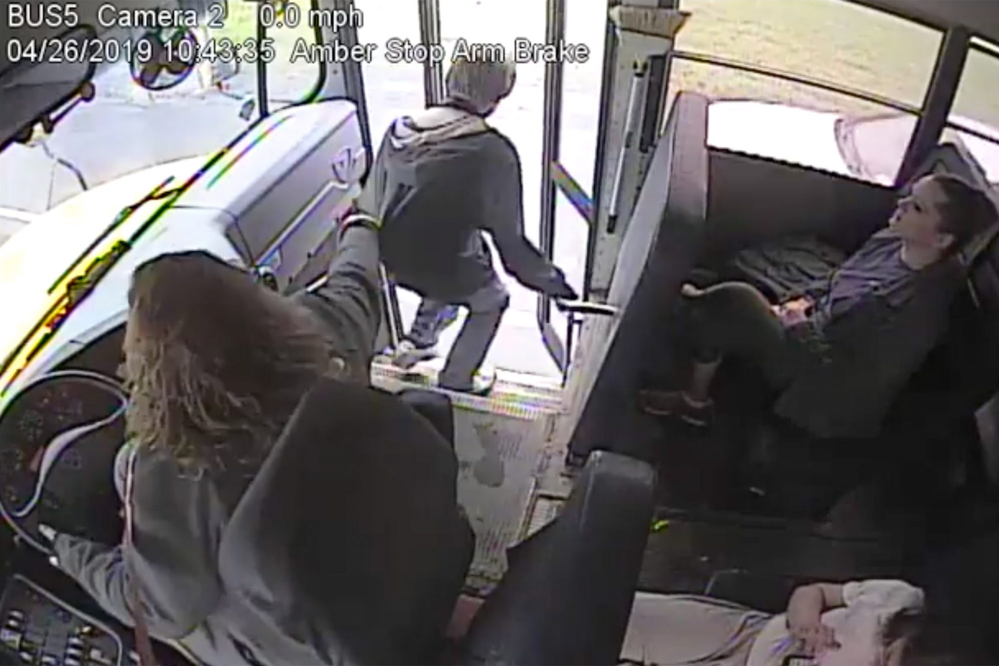 Caught on video: Norwich bus driver stops student as car whizzes by