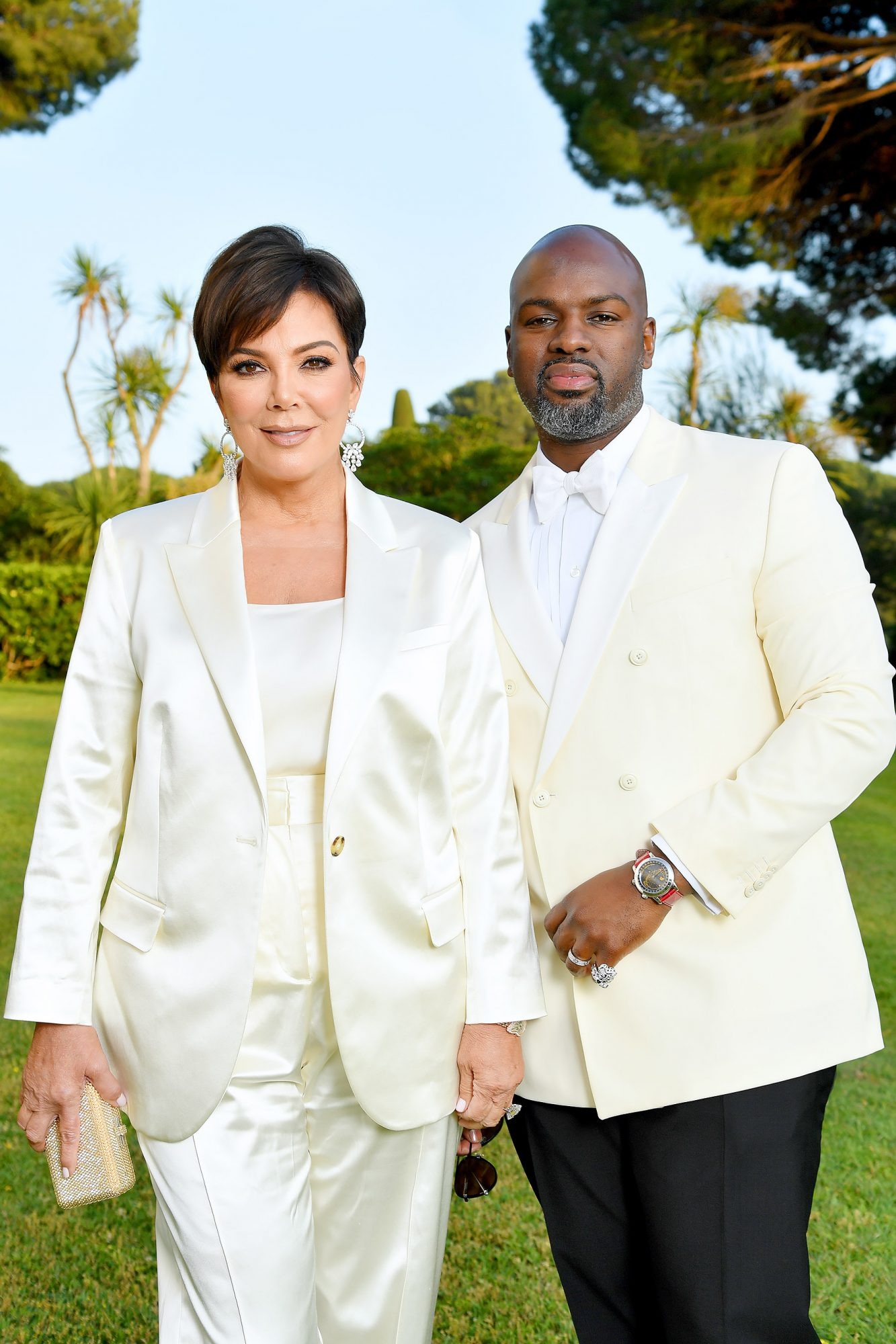 Cannes Corey Gamble and Kris Jenner