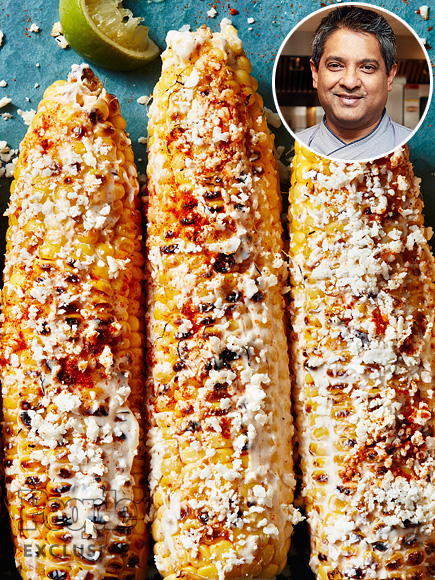 FLOYD CARDOZ'S GRILLED CORN WITH CHEESE AND CAYENNE