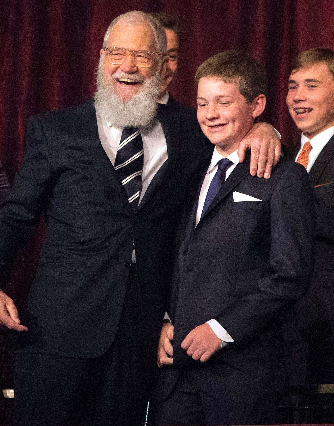 David Letterman and son