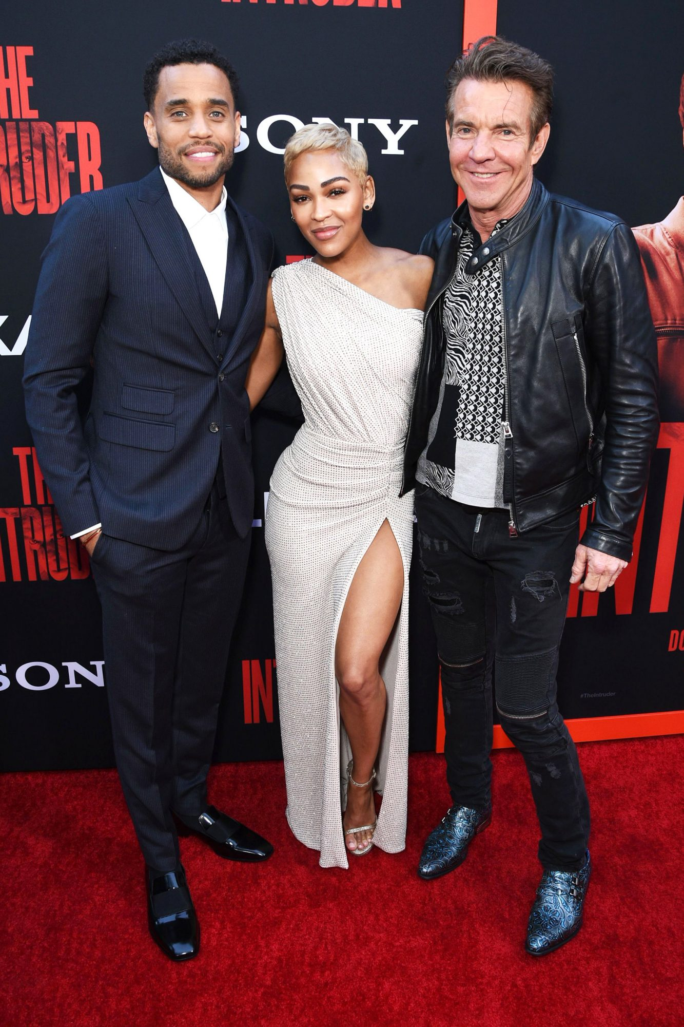 Michael Ealy, from left, Meagan Good and Dennis Quaid