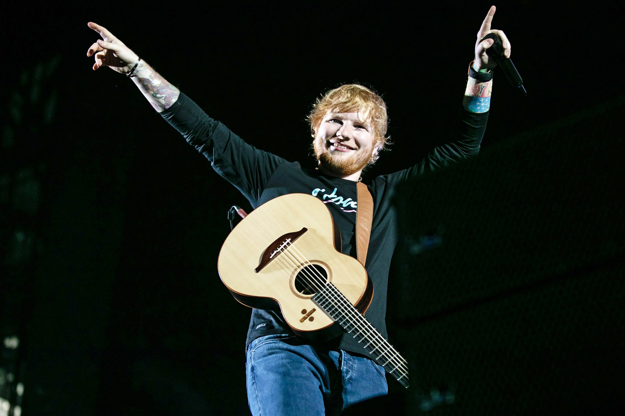 Ed Sheeran in concert at Ford Field, Detroit, USA - 09 Sep 2018