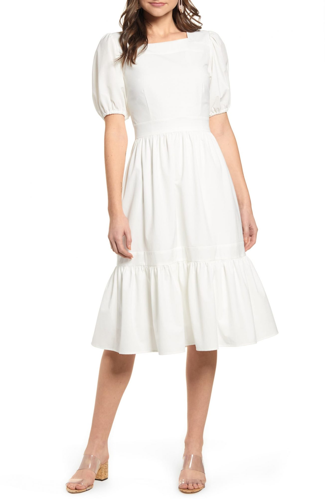 Rachel Parcell Puff Sleeve Dress at Nordstrom