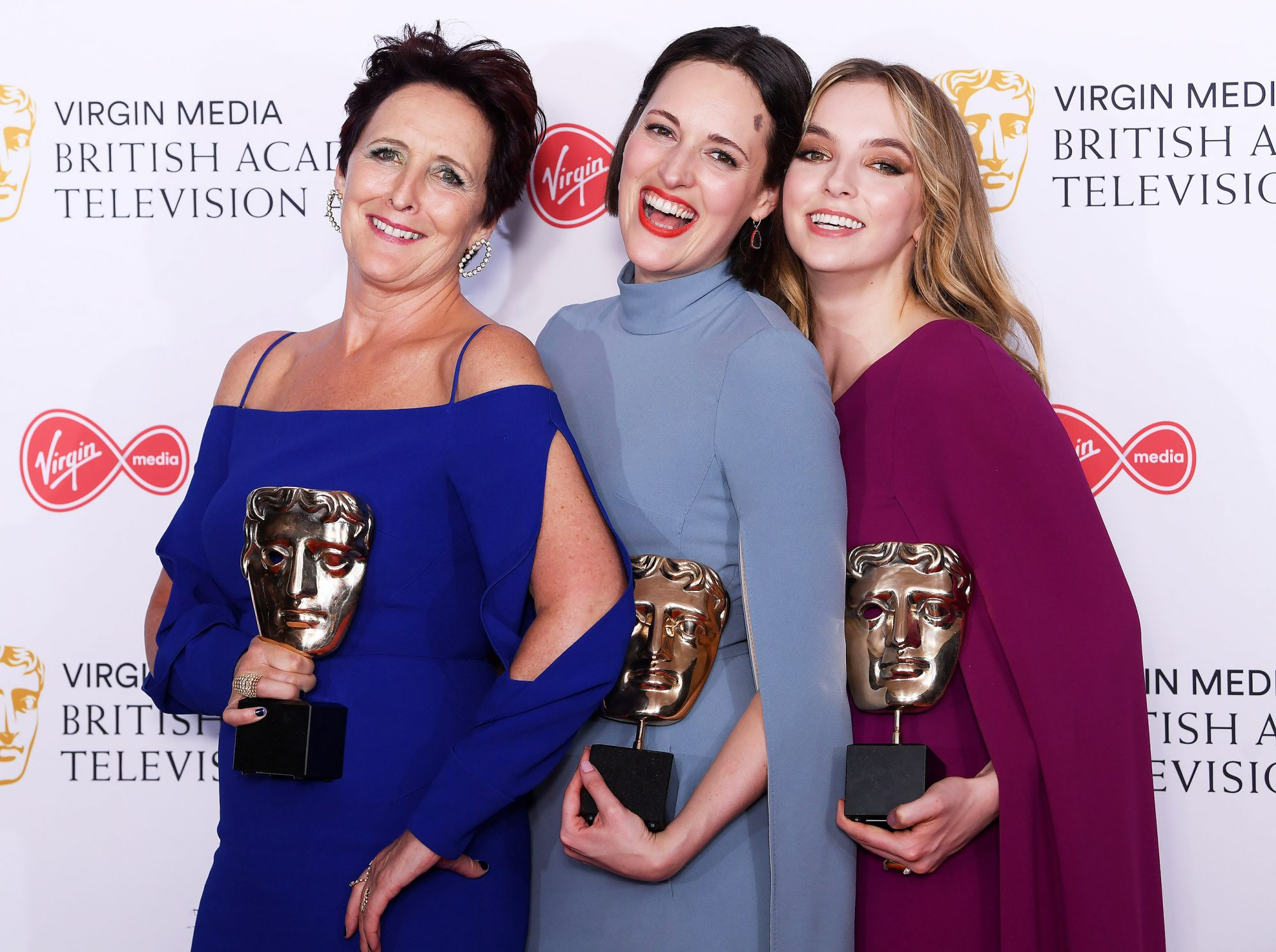 Fiona Shaw, Phoebe Waller-Bridge and Jodie Comer