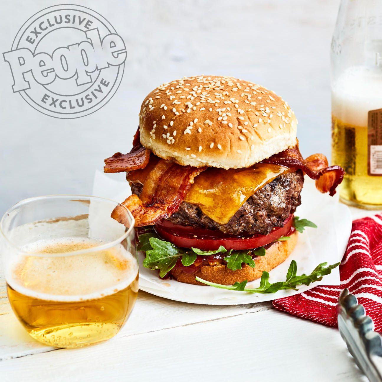 BRUCE & ERIC BROMBERG'S BACON CHEESEBURGERS WITH RED-ONION RELISH