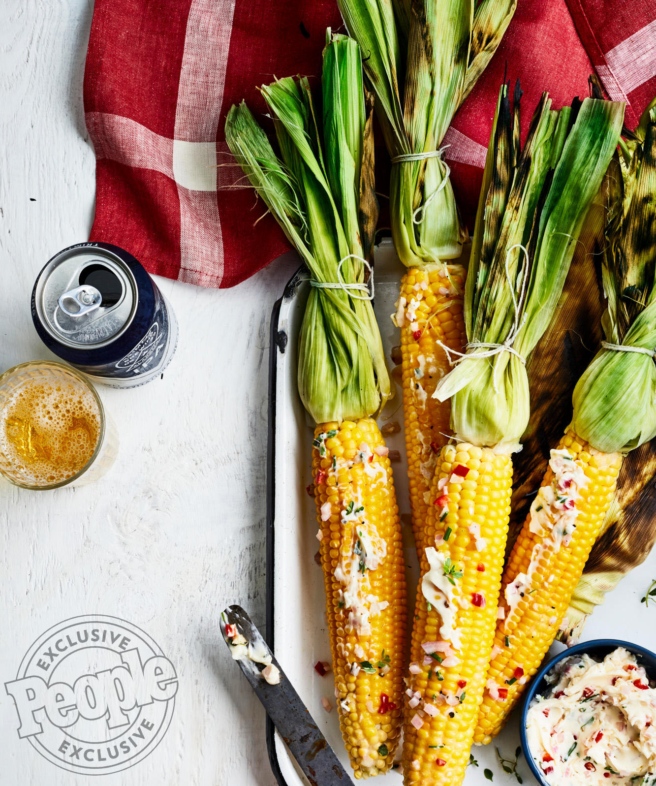 ERIN ZIRCHER'S GRILLED CORN WITH CHILE-HERB BUTTER