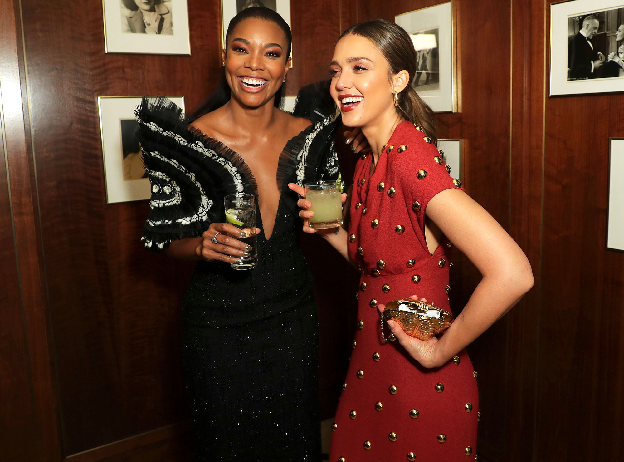 Mandatory Credit: Photo by Chelsea Lauren/Variety/REX/Shutterstock (10234258g) Gabrielle Union and Jessica Alba 'L.A.'s Finest' TV Show Premiere, After Party, Sunset Tower Hotel, Los Angeles, USA - 10 May 2019