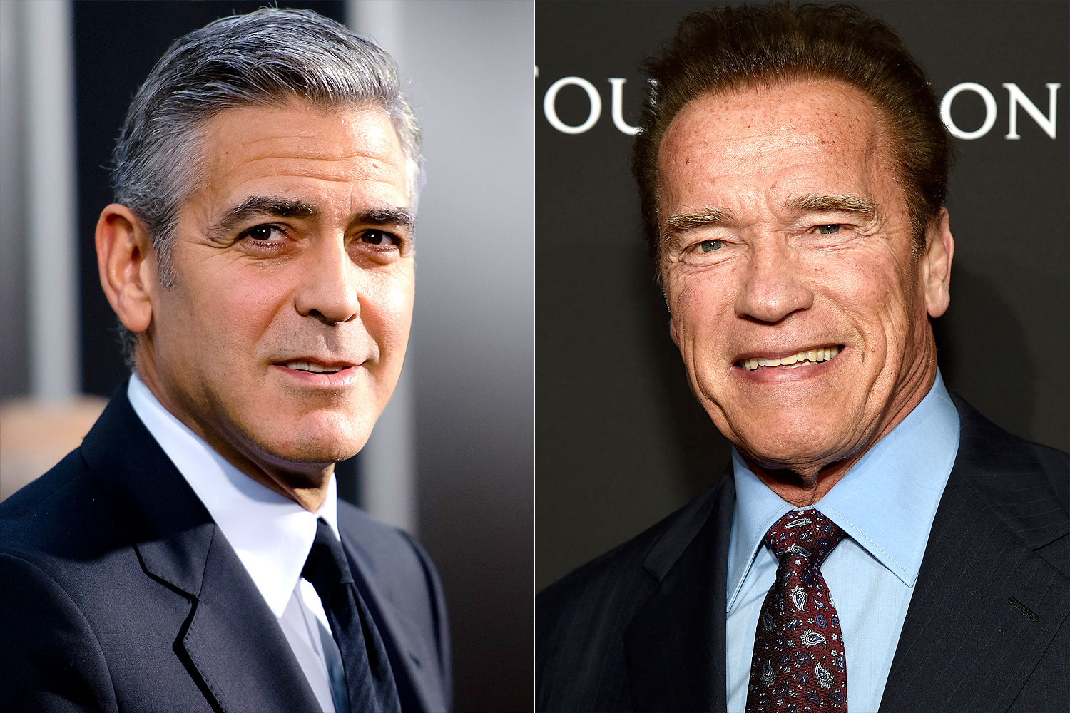 George Clooney and Arnold Schwarzenegger