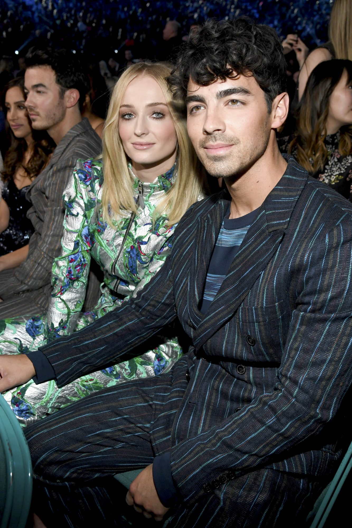 LAS VEGAS, NV - MAY 01: (L-R) Sophie Turner and Joe Jonas attend the 2019 Billboard Music Awards at MGM Grand Garden Arena on May 1, 2019 in Las Vegas, Nevada. (Photo by Kevin Mazur/Getty Images for dcp)