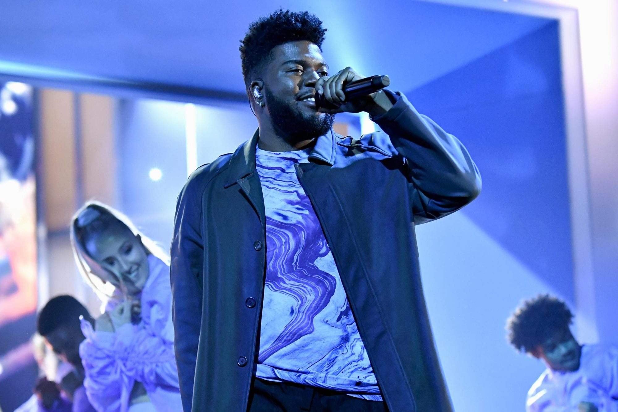LAS VEGAS, NV - MAY 01: Khalid performs onstage during the 2019 Billboard Music Awards at MGM Grand Garden Arena on May 1, 2019 in Las Vegas, Nevada. (Photo by Jeff Kravitz/FilmMagic for dcp)