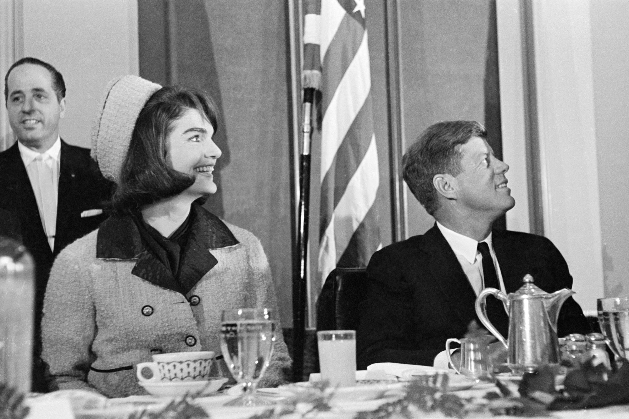 John and Jackie Kennedy at Chamber of Commerce Breakfast