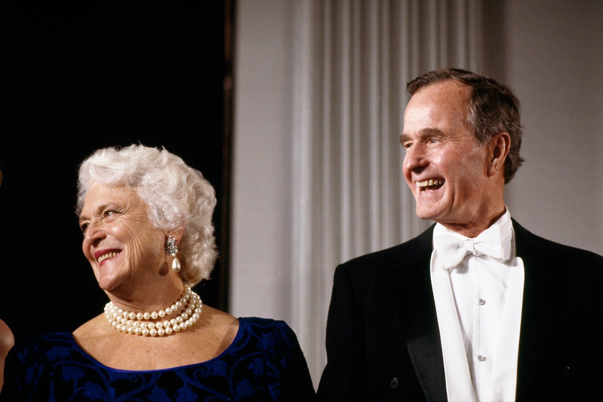 George H. W. Bush with Wife Barbara